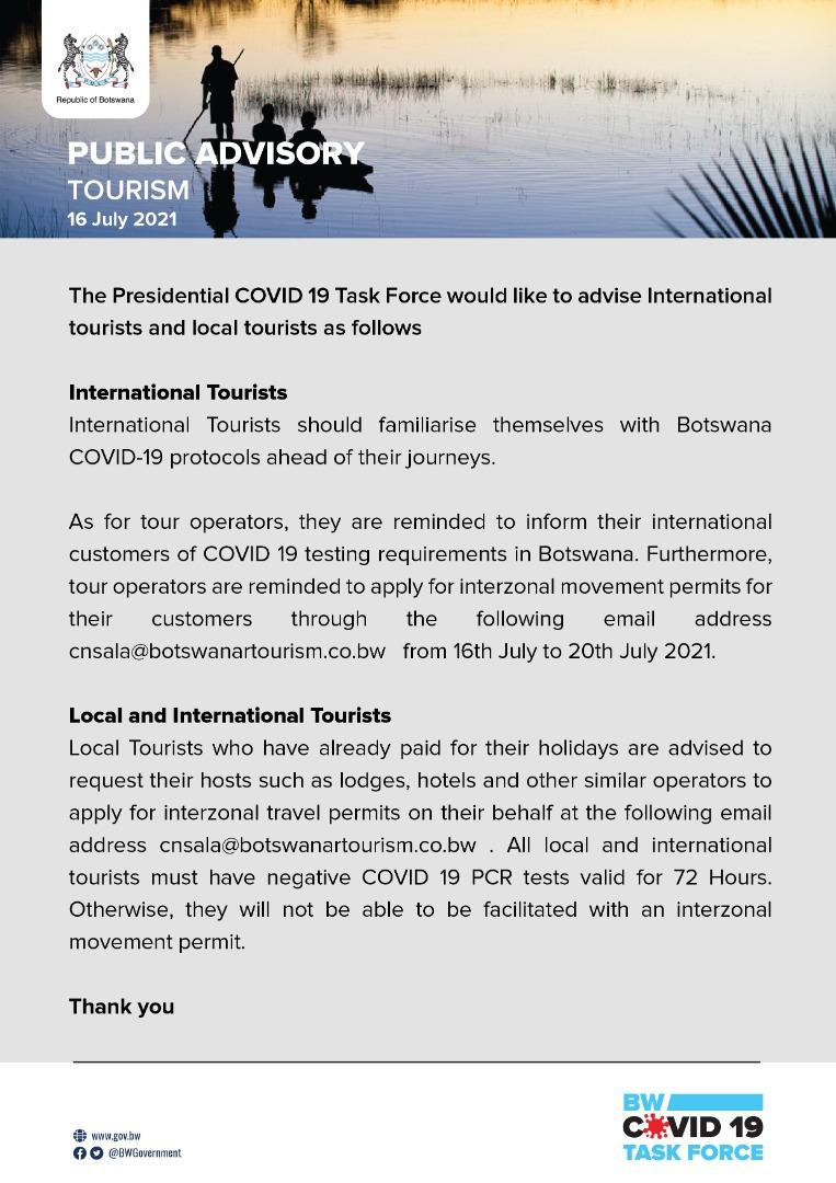 Public Advisory  Tourism